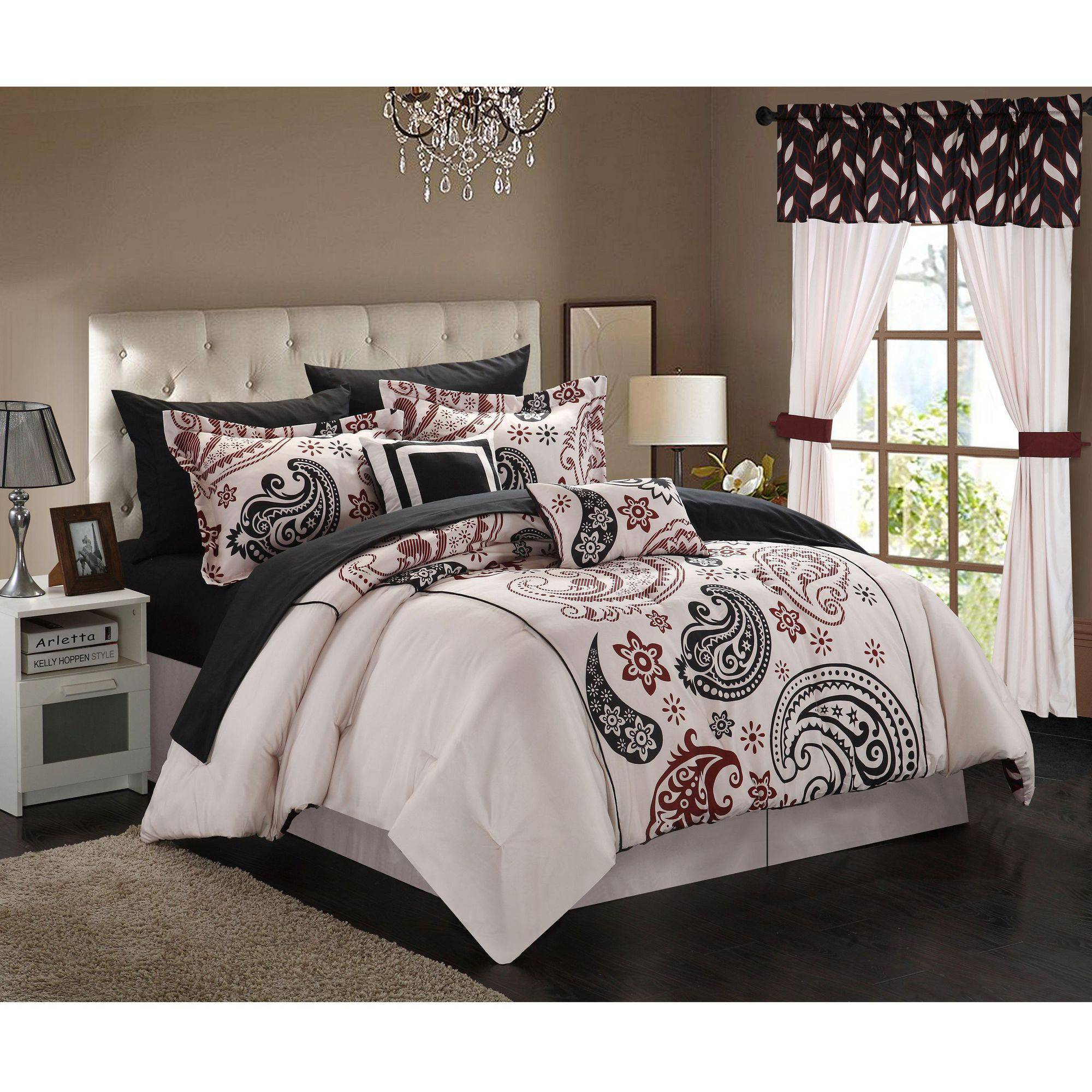 Chic Home Olinda 20-Piece Paisley Print Reversible Comforter Set