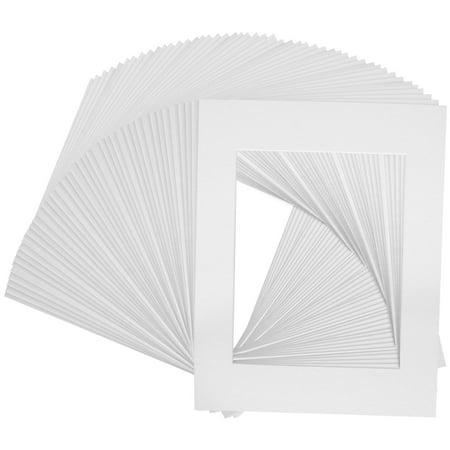 50 Art Mats Premier Quality Acid Free Pre Cut 8x10 White