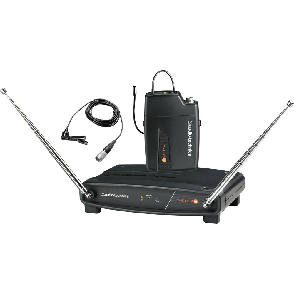 Audio-Technica System 8 ATW-801 L-T3 Wireless Lavalier Microphone System by Audio Technica