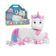 Unicorn Surprise Aria, White, Stuffed Animal Unicorn and Babies, Toys for Kids