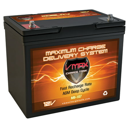 VMAX MB107-85 AGM Battery 85AH Wheelchair and Golf Cart Deep Cycle HI Performance vmax