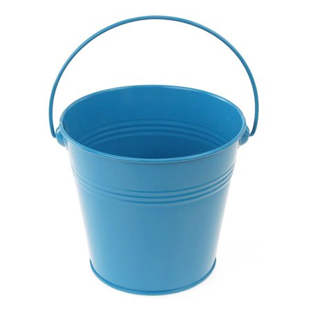 Metal Pail Bucket Party Favor, 5-Inch, Blue