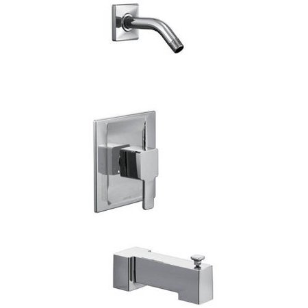 Moen TS2713NH 90 Degree Bath and Shower Faucet with Posi-Temp Pressure  Balanced Trim without Shower Head, Available in Various Colors