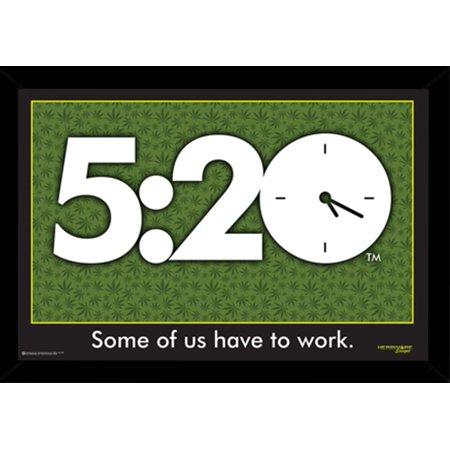5:20 Some of us Have to Work Poster in a Black Wood Frame (24x36 ...