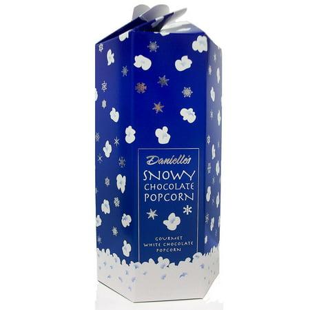 Snowy White Chocolate Popcorn (8 oz.) -Pack of 2