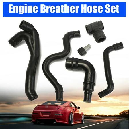 - 6pcs For VW Jetta Golf MK4 1.8T AWW AWP Engine Crankcase Breather Hose Kit 99-03