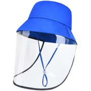 UPF50+ UV Kids Protection Sun Hat Anti-PM2.5 Protective Hat Windproof Fishing Cap with Detachable TPU Film Flap