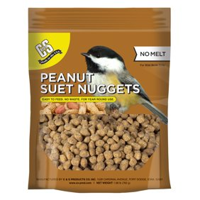 C&S Peanut Suet Nuggets, No melt - No waste, 27 oz Resealable Bag, Wild Bird Food
