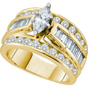 marquise diamond solitaire bridal wedding engagement ring cttw