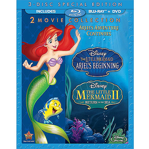 The Little Mermaid II: Return To The Sea / The Little Mermaid: Ariel's Beginning (Blu-ray + DVD) (Widescreen)