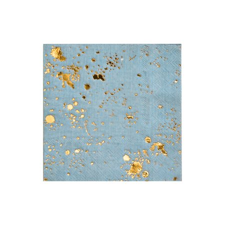 Harlow & Grey, Malibu Blue Splash Cocktail Paper Napkins, 5