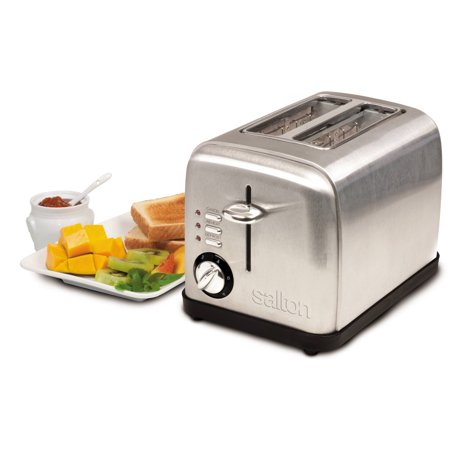 Salton Electronic Stainless Steel Toaster, 2 Slice