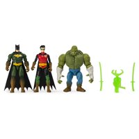 BATMAN 4-Inch Swamp Showdown BATMAN, ROBIN and KILLER CROC Action Figure 3-Pack, Walmart Exclusive