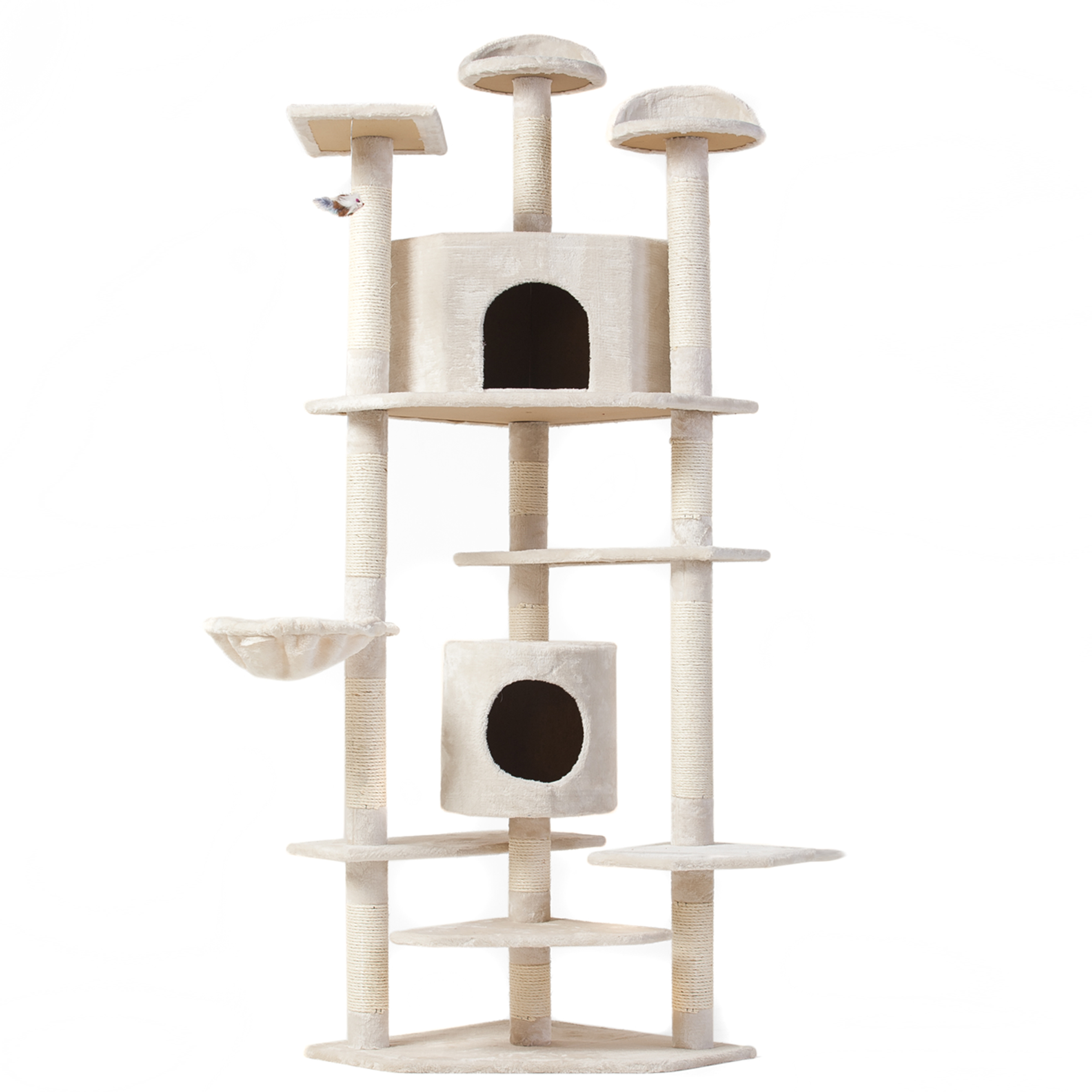Beau Best Choice Products 80in High Quality Pet Condo Furniture Kitten Cat Tree  Scratching Post House,