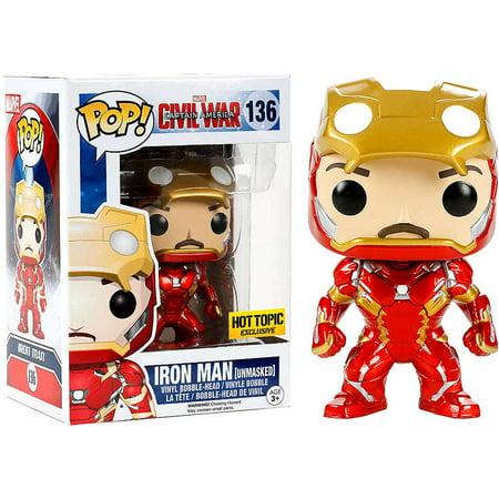 Funko POP! Marvel Iron Man Vinyl Bobble Head [Civil War, Unmasked] - Halloween Unmasked