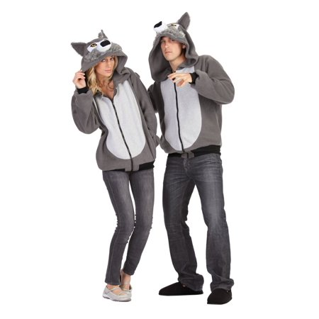 Adult Willie the Wolf Costume Hoodie - Wolf Fancy Dress Costume