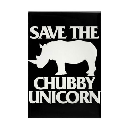 Street Rectangle Magnet - CafePress - Save The Chubby Unicorn - Rectangle Magnet, 2