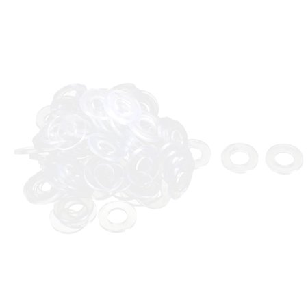 Water Pipe Tube Hose Connector Seal Ring Gasket Washer Clear 19 x 9 x 2mm 90Pcs