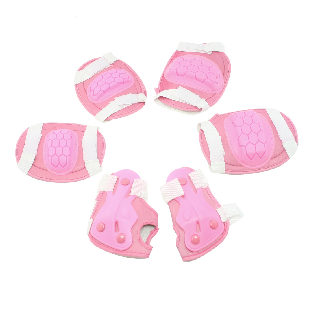 6 in 1 Cycling Skating Protection Gear Wrist Guard Elbow Knee Pads For little girls Kids by