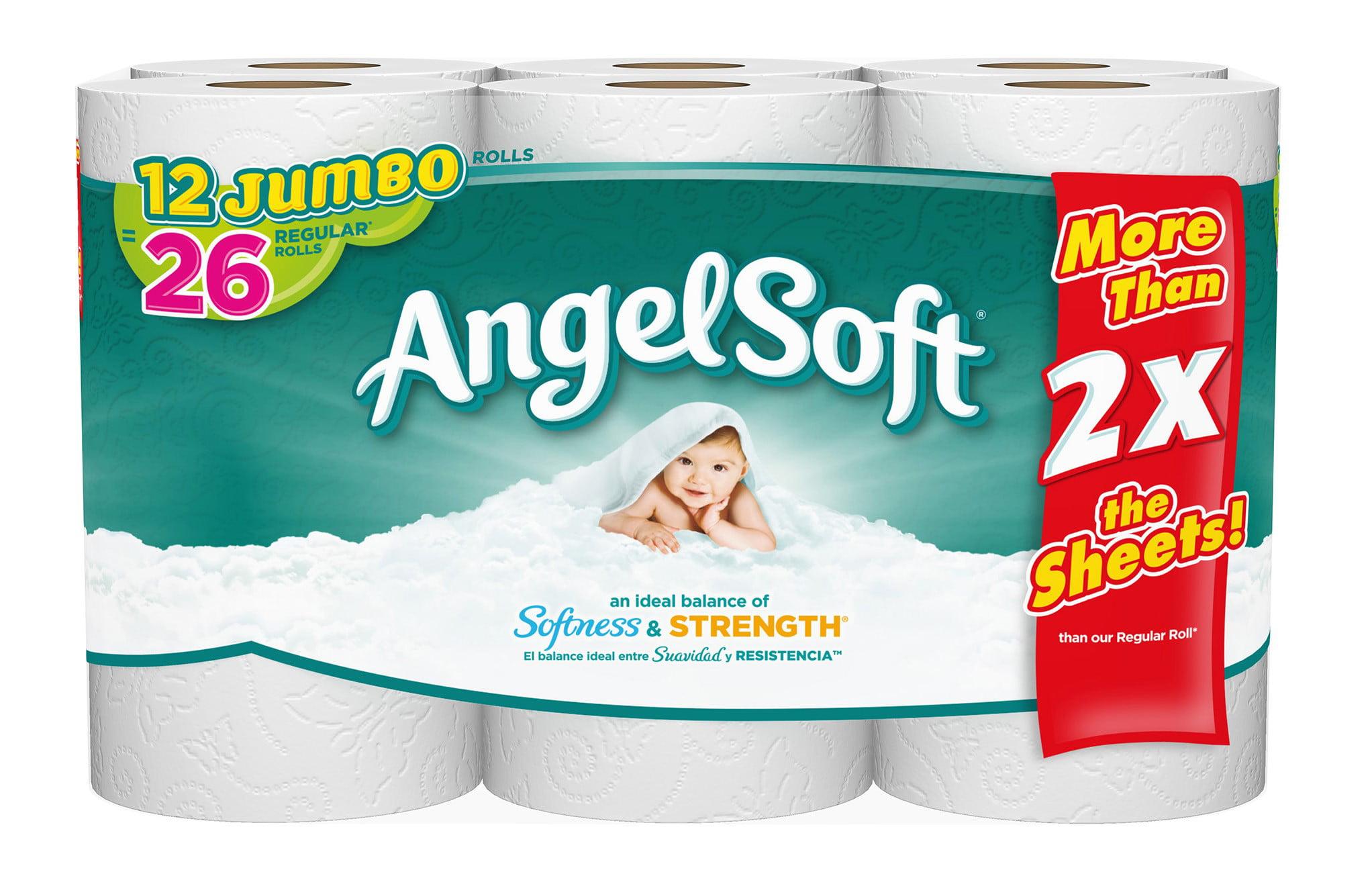 Angel Soft Toilet Paper, 12 Jumbo Rolls by Georgia Pacific