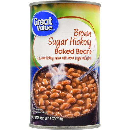 (6 Pack) Great Value Baked Beans, Brown Sugar Hickory, 28 (Brown Sugar Baked Beans)