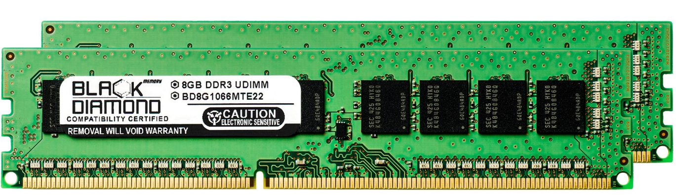 16GB 2X8GB RAM Memory for Intel S Series S1200BTL DDR3 DIMM 240pin PC3-8500 1066MHz Black Diamond Memory Module Upgrade