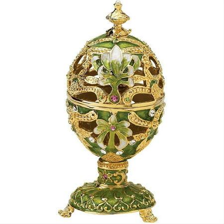 Design Toscano The Petroika Collection Romanov Style Enameled Egg: -
