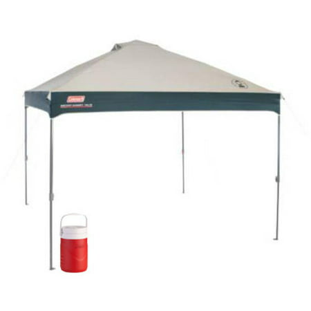 Coleman 10 x 10 Instant Canopy/Gazebo with 1 Gallon Jug Value Bundle