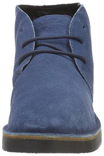 ARMANI JEANS JEANS ARMANI Men's Desert Chukka Boot, Blue Graphite, 42 EU/8.5 M US 0087ff