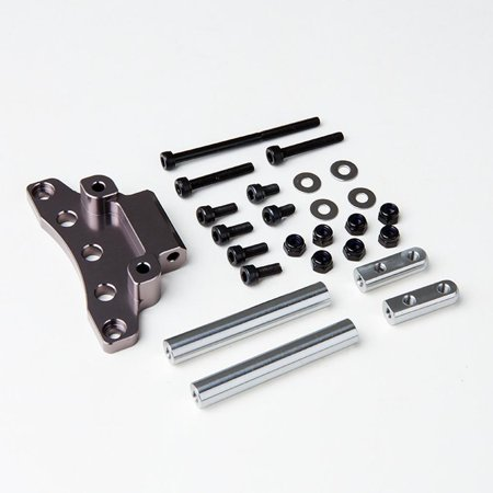 Gmade Gma30020 Front Upper Link Mount (Titanium Gray) For Gs01 Axle