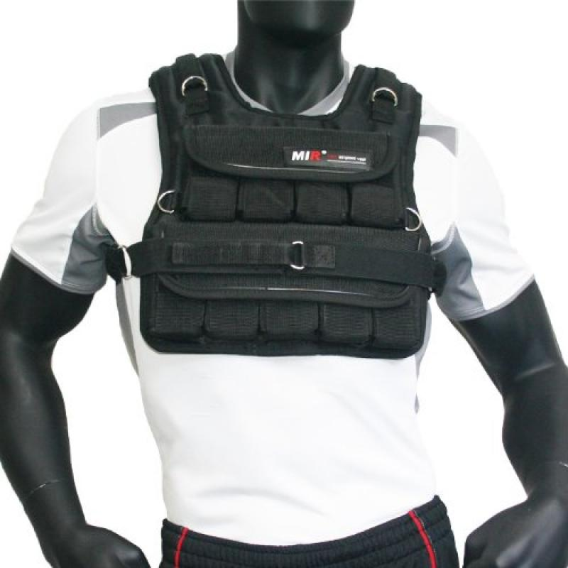 MiR 30LBS (SHORT NARROW STYLE) ADJUSTABLE WEIGHTED VEST