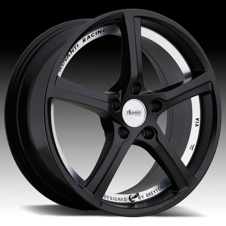 Advanti Racing 15th Anniversary Black 17x7.5 5x112 45mm (157S512455)