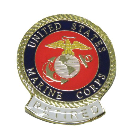 Novelty Hats Wholesale (Wholesale Pack of 6 United States Marine Corps RETIRED Flag Hat Cap lapel)