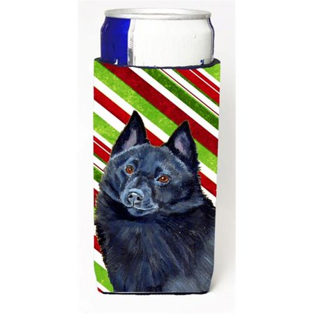 Schipperke Candy Cane Holiday Christmas Michelob Ultra bottle sleeves For Slim Cans - 12 oz. - image 1 de 1