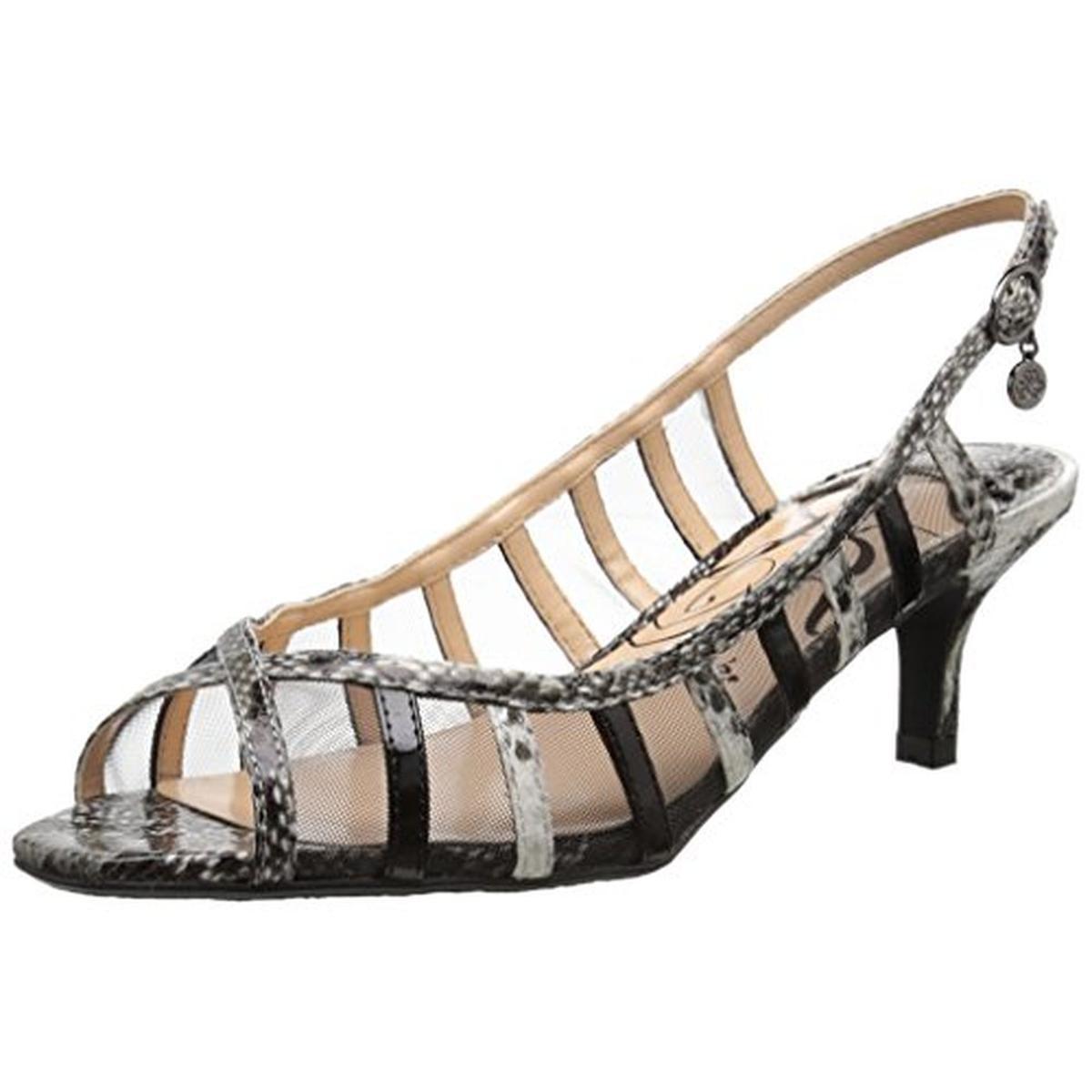 J. Renee Womens Rebeka Open Toe Slingback Heels