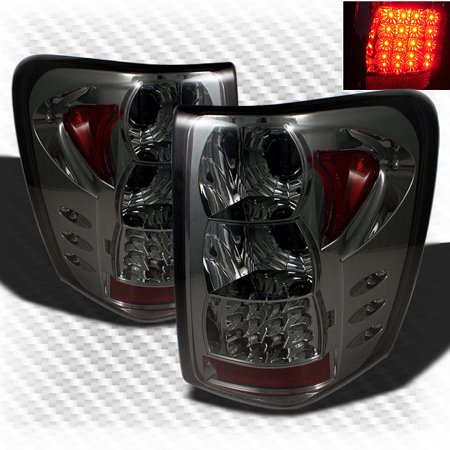 smoked 1999-2004 jeep grand cherokee led g2 tail lights rear brake lamp  pair left+right 2000 2001 2002