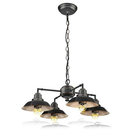 1536bz Accent Landscape Fixture (SereneLife Vintage-Style Chandelier Pendant Hanging Lamp Light Fixture with Metal Lighting)