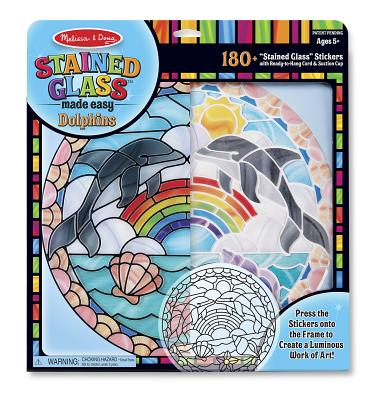 Melissa & Doug Stained Glass Made Easy Craft Kit: Dolphins - 180+ Stickers
