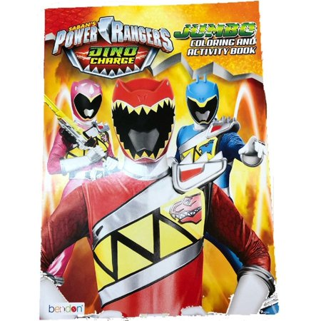 coloring book power rangers party favors 96 pages dino charge. Black Bedroom Furniture Sets. Home Design Ideas