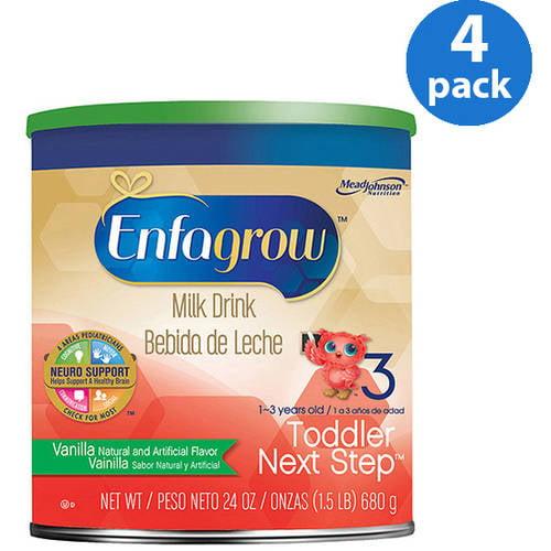 Enfagrow Toddler Next Step Vanilla Milk Drink - 24 oz Powder Can, Pack of 4