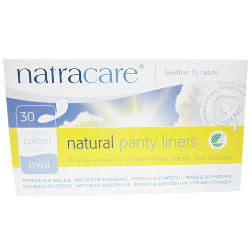 Natracare Organic Cotton Natural Panty Liners Mini - 30 Ea