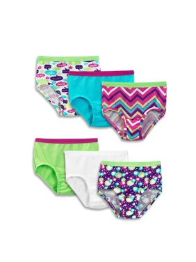 Fruit of the Loom Girls Underwear Cotton Briefs, 6 Pack (Little Girls & Big Girls)