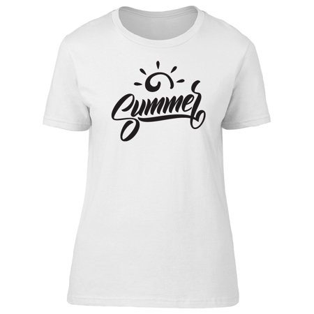 Summer Simple Sun Logo Tee Women's -Image by (Simple Logo Black And White)