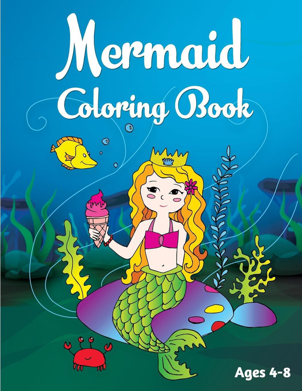 - Mermaid Coloring Book: Ages 4-8 (Paperback) - Walmart.com - Walmart.com