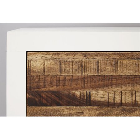 Modus Montana 2 Drawer Nightstand in White Lacquer and Natural Sengon - image 3 of 5