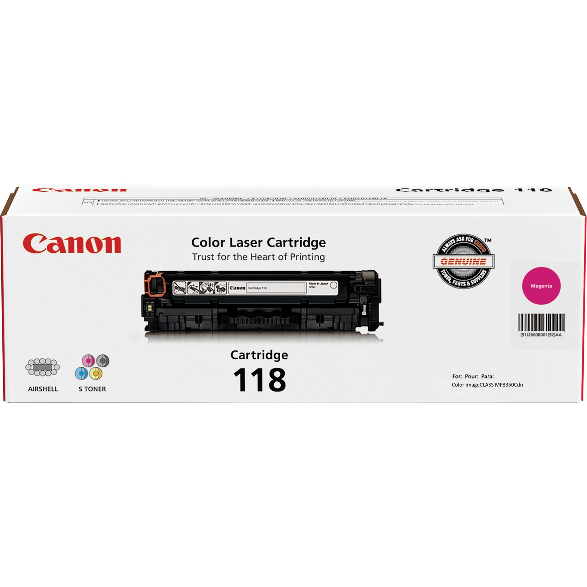 Canon, CNMCRTDG118MA, CRTDG118 Toner Cartridge, 1 Each