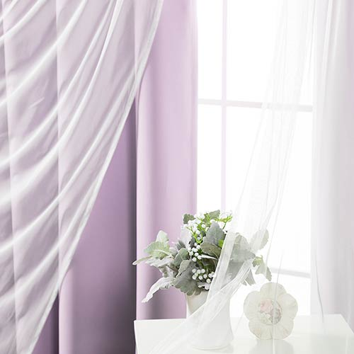 Lavender 80 x 84 In. Blackout Window Treatments, Set of Two by