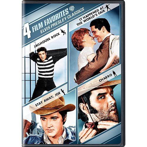 4 Film Favorites: Elvis Presley Classics Jailhouse Rock   It Happened At The World's Fair   Stay Away, Joe  ... by WARNER HOME VIDEO