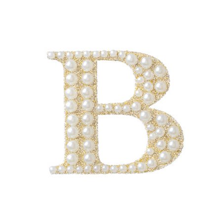 Bedazzle your scrapbooks with this gold and pearl bling sticker. The classic styling of this monogram fits on any project needing a touch of sparkle.