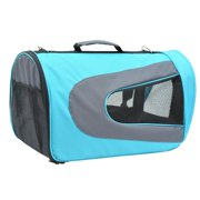 Pawhut Pet Dog Soft Sided Travel Carrier Tote Bag - Light Blue